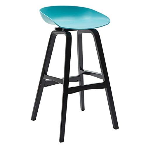 YLCJ barkruk massief houten barstoel mode creatieve barkruk moderne minimalistische statafel en stoelen recept hoge kruk blauw voor keuken | Pub | CAF; (kleur: basiskleur) Primary color