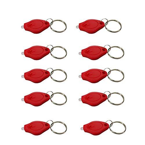 Fliyeong Mini-Taschenlampe LED Key Light Kleine Schlüsselanhänger Kette Leichte Mobile Mini Keychain Rot