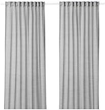 Curtains, 1 pair, grey