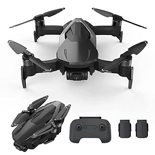ZHAOJ GPS Drone with 4K Camera for Adults, 2-Axis Stable Camera, Quadcopter with 5.8G FPV Live Video, GPS Return Home, Brushless Motor, Follow Me, 60 Minutes Flight Time, Carrying Case