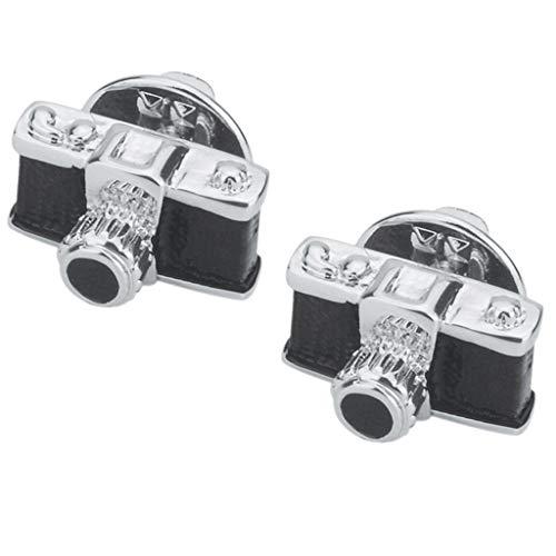 P Prettyia 2X Elegant Vintage Stil Kamera förmig Hochzeitschmuck Anzug Pin Frauen Modescmuck