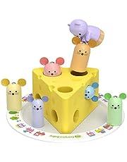 U.STAR ネズミとチーズ 積み木 木のおもちゃ モンテッソーリ教具 知育玩具 赤ちゃん