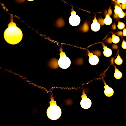 Solar String Lights Outdoor, 11M/36Ft 60 LED Garden Fairy Lights Waterproof Solar Powered 8 Modes Globe Light for Garden, Party, Wedding, Yard, Bedroom and Patio (Warm White)