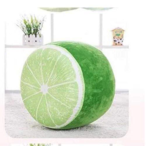 ZUQIEE Taburete Inflable Que engrose la Cubierta de algodón de la Historieta de la Fruta 3D Puf Pouf Silla Encantador inflables heces cumpleaños Regalo (Color : D)