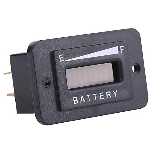 Medidor de batería de alta confiabilidad, indicador de batería, plástico para advertencia de carga baja para carro(BI003-48V, 12)