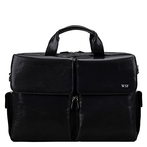 Maxwell Scott Bags® PERSONALISIERT! Luxus Leder Aktentasche