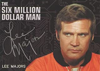 Complete Bionic Collection Autograph Card Lee Majors Silver Signature