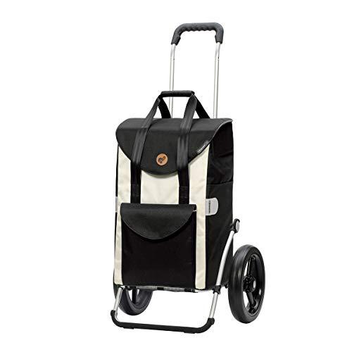 Andersen Einkaufstrolley Royal mit kugelgelagertem Rad 29 cm und Einkaufstasche Senta weiß 49 Liter