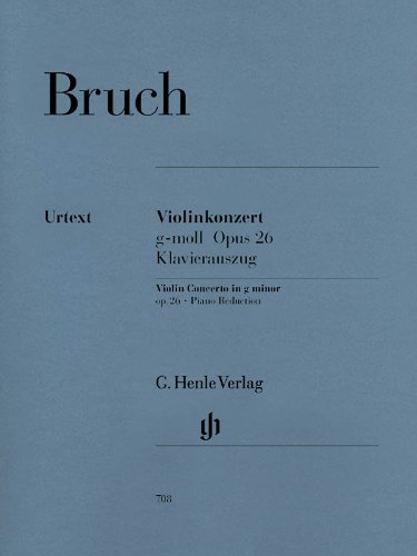 Konzert 1 G-Moll Op 26 Vl Orch. Violine, Klavier
