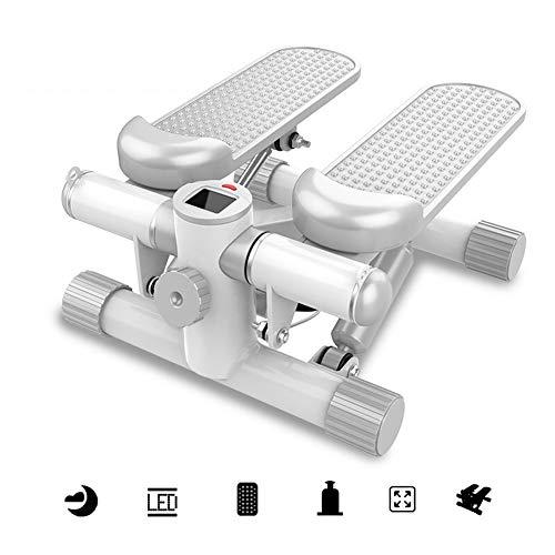 ZWW Mini Stepper, Silencioso Portátil Sin Instalación Pedal De Aire Ejercicio Físico En Interiores Entrenador Elíptico con Cordón Y Pantalla para El Hogar/Oficina