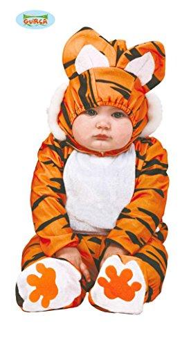 Guirca Déguisement Combinaison Tigre Orange et Noir bébé 1 à 2 Ans (92-93 cm)