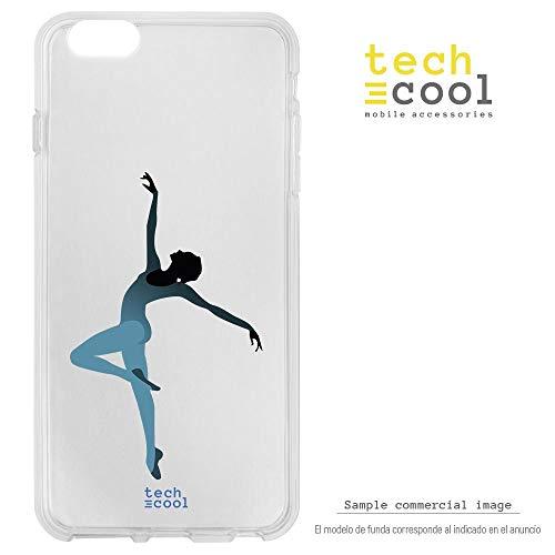 Funnytech® beschermhoes van silicone voor Samsung Galaxy S7 Edge [flexibele siliconengel, exclusief design] ballerina dans achtergrond transparant