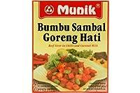 Munik bumbuサンバルゴレンhati(チリ&ココナッツミルク調味料に牛肉肝臓) - 4.94oz(1パック)