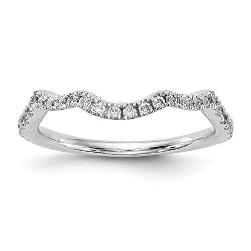 Diamond2Deal Damen 14K Weiß Gold True Origin Lab-Grown Diamant Hochzeit Band Ring, VS/E 0,36Karat