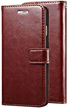 Leather Wallet Flip Book Cover Case for Micromax Canvas 2 Q4310 2017 - Brown