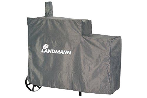 LANDMANN fumoir Taille XL Housse de Protection Contre Les intemperies, Noir, 140x65x114 cm