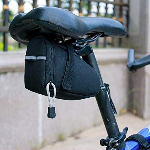 Bolsa de cuadro de bicicleta Bicicleta impermeable Alforjas reflectante de ciclo del asiento de la cola bolsa, la bolsa Tija de sillín for bicicletas Accesorios al aire libre para MTB al aire libre