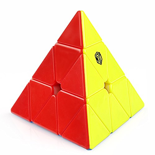 Coogam Qiyi X-Man Bell Magnetic Pyramid Stickerless Speed Cube Pyramid...
