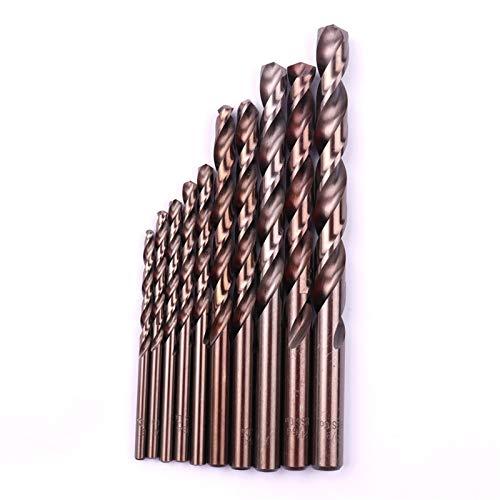 LJQSS Durable 2Pcs HSS Imperial Cobalt Drill Bit Metal Drilling Round Straight Shank Mini Twist Drill Bit Tool 1/8' To 21/64' durableWide application (Size : S08)