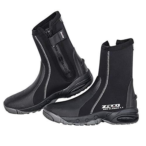 WYYHAA Botas de Traje de Neopreno - Neopreno de 5 mm Snorkeling Zapatos de Surf, Natación de Surf Botas de Neopreno con Traje de Neopreno Botas Negro,M