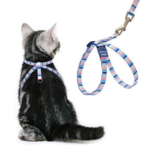 PUPTECK Cat Harness with Leash Set - Adjustable Soft Strap with Figure 8 Style...