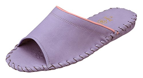 [パンジー] スリッパ 婦人用室内履き レディース ルームシューズ LLサイズまで対応 9505 (L (24.0〜24.5cm), パープル)