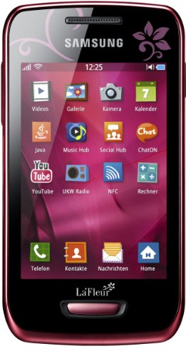 Samsung Wave Y S5380 La Fleur Smartphone (8,1 cm (3,2 Zoll) Display, Touchscreen, 2 Megapixel Kamera, UMTS) wine-red - La Fleur