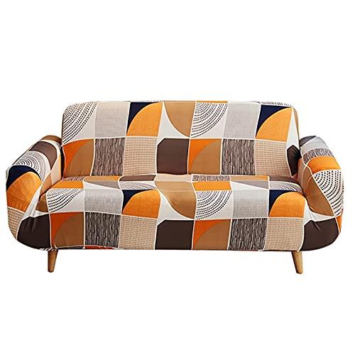 LJINGY Geométrico Fresco Planta sofá Cubierta Protectora Color sofá Cubierta Sala de Estar decoración antiincrustante (Cor : 1, Especificação : 145X185cm)