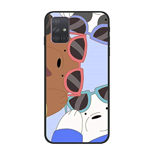 Clear Soft Silicone TPU Liquid Case for Samsung Galaxy A71, We Bare-Bear Animated 1