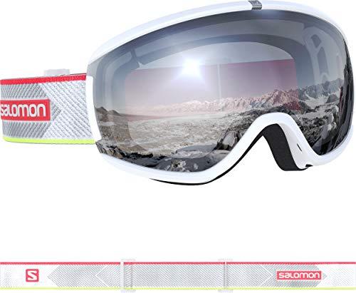 Salomon, iVY, L40846900, dames-skibril, wit (wit glitch)/universeel midblauw, maat M
