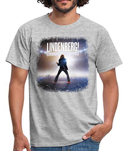 Lindenberg! Mach Dein Ding! Filmplakat Männer T-Shirt, M, Grau meliert