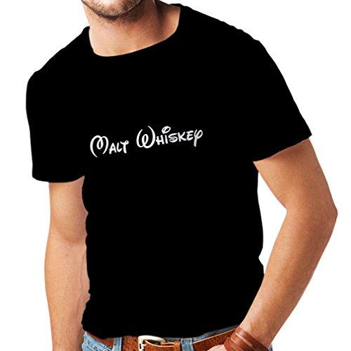 lepni.me Männer T-Shirt Malt Whisky - lustige Trinkzitate, Coole Alkohol Sprüche (Medium Schwarz Fluoreszierend)