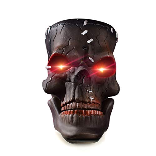 cnnIUHA Halloween Decoration Hanging Skull Head Decor Motion Sensor Voice Control DIY Props Scary Atmosphere Toy for Haunted House Prop Decor, Outdoor/Indoor, Lawn Decor