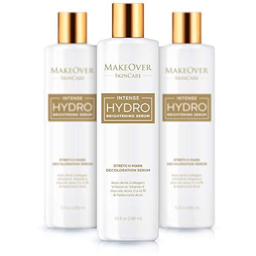 MakeOver Intense Hydro Brightening Serum – Enhanced radiance – Stretch Mark Removal – Kojic Acid – Collagen – Vitamin A &E – Glycolic acid – CoQ10 – Hyaluronic acid – 296ml