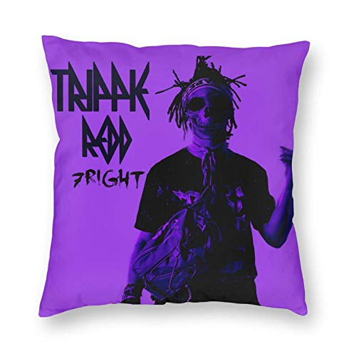 JIECARKO Trippie Redd Parts 1-3 Purpled Throw Pillow Covers Couch Modern Design Cushion Case Comfortable Throw Pillowcase Square Pillowcase Cushion Covers for Bedroom 20' x20