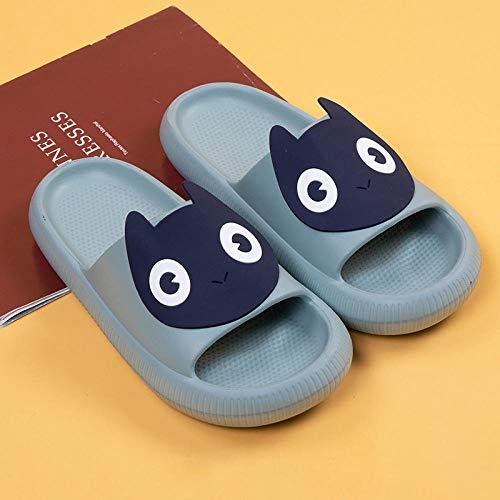 XZDNYDHGX Chanclas Unisex Adulto,Diapositivas de Verano Zapatillas de Mujer de Dibujos Animados Animal Lindo, hogar Zapatos de Hombre Bothe Chanclas-Gris EU 41-42