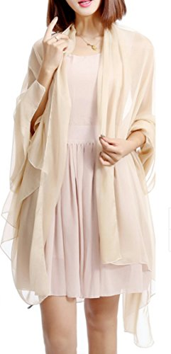 hochzeits-shop-hamburg HBH Brautmode SC-01 Braut Chiffon Stola one Size, Creme(59#)