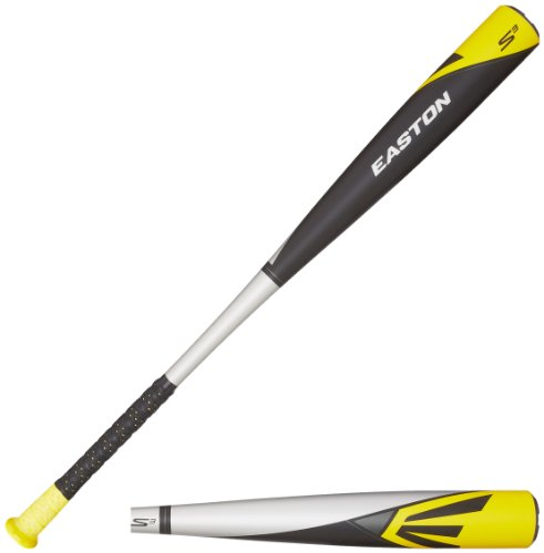 Easton BB14S3 S3 Aluminum-3 BBCOR Baseball Bat, Silver/Black/Yellow, 34-Inch/31-Ounce