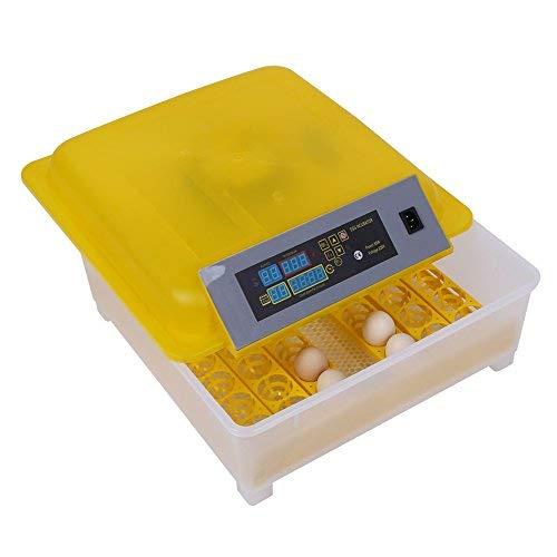 Incubadora de Huevos, 48 Huevos Capacidad Totalmente Automática Hatcher con Control de Temperatura Inteligente Pantalla LED para Pato Chick Huevo de Ganso Eclosión