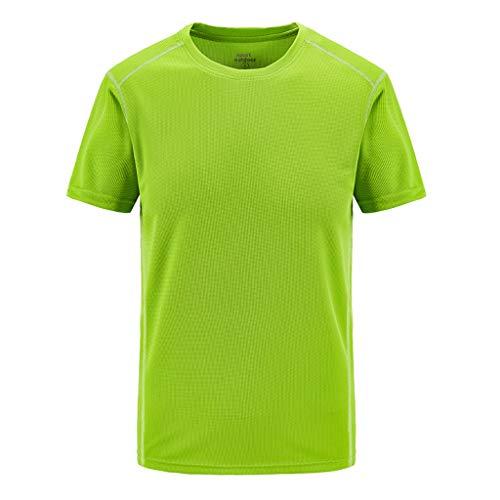 BOLANQ satinbluse mit Stehkragen gelb ärmellos Schlupfbluse Blusenjacke durchsichtige Kurzarm festlich (XXXXXXXX-Large,Grün)