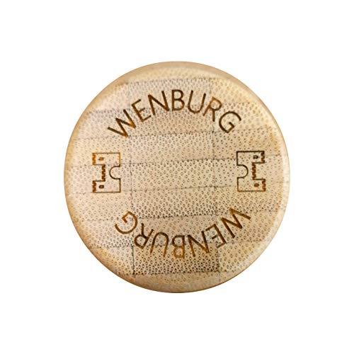 Wenburg Bambus Ersatzdeckel für Glasflaschen (0,35l, 0,5l, 0,55l, 0,75l, 1l). Ersatz Deckel für Glas Trinkflaschen/Sportflaschen