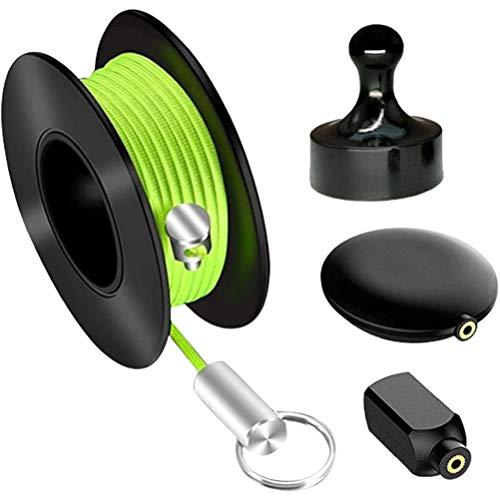 Allsmart Extractor de alambre magnético, 4 unidades/juego de herramientas de guía de alambre magnético, imán de extractor de alambre magnético y probadores