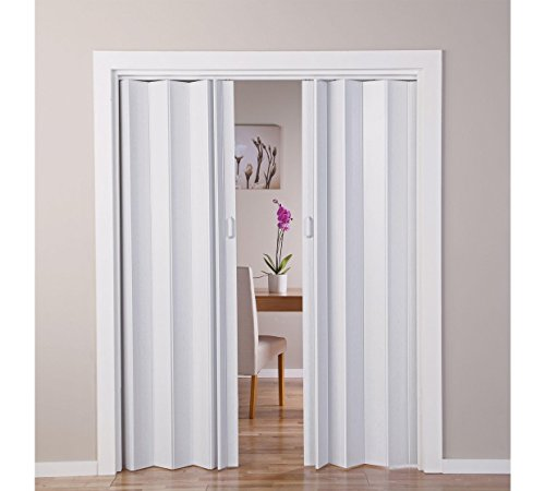 With Oak - Puerta doble efecto plegable, color blanco (770045422)