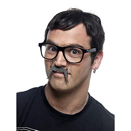 Limit Sport – Lunettes Moustache avec Strass, Taille Unique (cm956)