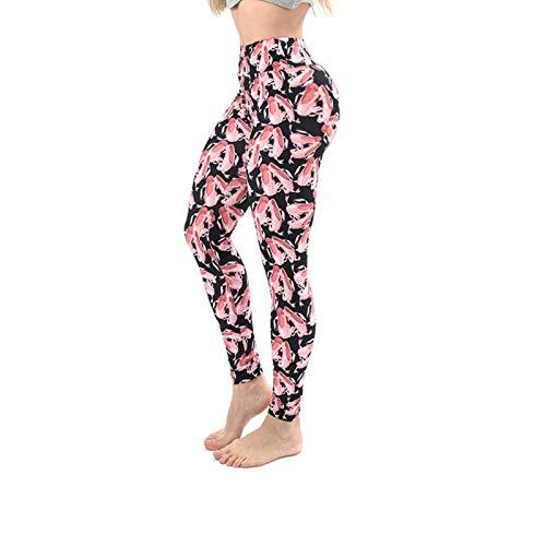 Pantalones de yoga con estampado 3D para mujer Leggings únicos de fitness Entrenamiento deportivo Leggings para correr Sexy Push Up Gym Wear Pantalones elásticos delgados-Tacones altos, Talla única