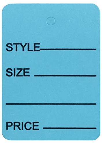 Amram Price Tags 1.25-in x 1.875-in Unstrung, Light Blue, Printed Style; Size; Price, 1,000 Tags