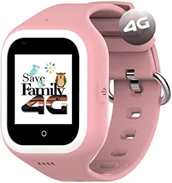 Reloj-Smartwatch 4G Iconic con Videollamada & GPS instantáneo para niños SaveFamily. Reloj con WiFi, Bluetooth, cámara, identificador de Llamadas, Boton SOS Waterproof Ip67. App SaveFamily (Negro)