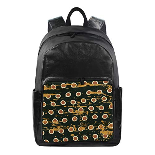 Bookbag Multi Function Daypack Shoulder Bag Laptop Casual Backpack Abstract Egg Vintage Ethnic Leopard Pattern