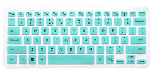 Silicone Keyboard Skin for Dell Inspiron 13 5000 i5368 i5378 i5379, Dell Inspiron 13 7373 7375 7368 i7368 i7378, 15.6' Dell Inspiron 15 i5568 i5578 5579 7569 7579 Laptop [Without Numeric keypad] Mint