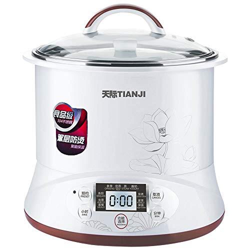 TONZE FBA_COMINHKPR92575 Slow Cooker Soup Maker, 2.2L, White